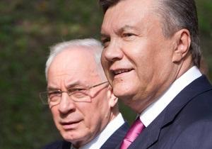 Опрос: Украинцы не любят Азарова больше, чем Януковича