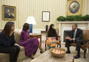 Обама принял юную пакистанскую правозащитницу