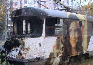 новости Харькова - ДТП - В Харькове трамвай столкнулся с бетономешалкой и загорелся