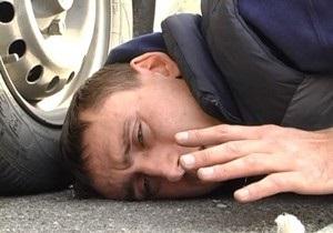 В Киеве пешеход избил виновника ДТП