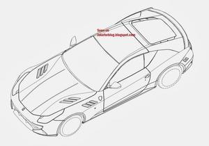 В сети появились эскизы уникального суперкара Ferrari FF