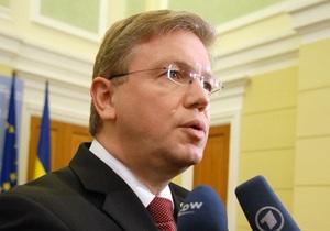 Фюле - Соглашение об ассоциации - Украина - Россия - давление - Еврокомиссар Фюле: давление России на Украину не повлияет на позицию Европы относительно СА