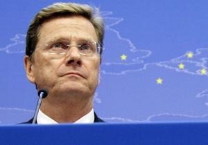 Вестервелле - Соглашение об ассоциации - Украина - Германия - Вестервелле: Без выполнения условий Украиной Евросоюз может не достичь консенсуса относительно СА