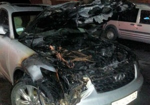 Новости Полтавы - поджог - автомобиль - помощник депутата - УДАР - В Полтаве сожгли автомобиль помощника депутата от УДАРа