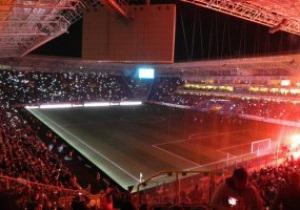Фотогалерея: Электричество кончилось. Фанаты показали самое красивое шоу года на стадионе Днепра