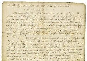 В США прокламация о Дне благодарения уйдет с молотка
