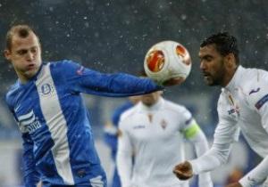Днепр проиграл на заснеженном поле Фиорентине в Лиге Европы