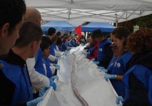 Новости Испании - рекорды: В Испании приготовили самую длинную в мире кровяную колбасу