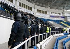 Украинская милиция не хочет возвращаться на стадионы