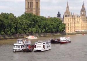 В Лондоне отменили туры по Темзе после пожара на автобусе-амфибии возле парламента