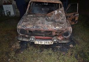 новости Луганска -Дорожный контроль - В Луганской области неизвестные сожгли автомобиль активиста Дорожного контроля