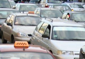В Киеве образовались девятибалльные пробки