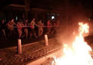 Центр Афин охватили массовые беспорядки