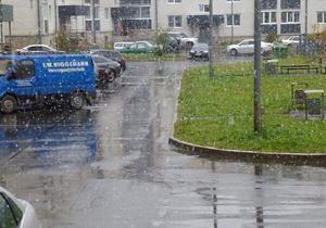Сегодня в Москве выпал первый снег