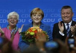 Выборы в Германии - Ангела Меркель: Меркель побеждает на парламентских выборах уверенно, но без абсолютного большинства