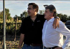 Ющенко и Саакашвили выжимали ногами виноград под грузинские песни