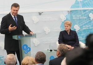Украина ЕС - саммит YES - Литва - Янукович - Миссия выполнима. Выступление Януковича в Ялте обнадежило президента Литвы