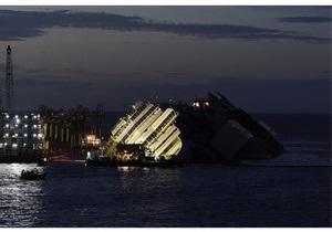 Costa Concordia - Как поднимали Costa Concordia: ускоренная съемка