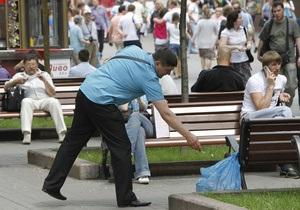 Киевская милиция будет штрафовать за брошенный мимо урны мусор и уничтоженные деревья