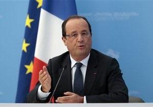 Олланд: Не стоит отбрасывать сценарий военного вмешательства для решения сирийской проблемы