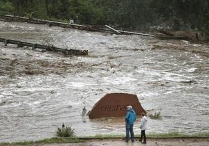 В штате Колорадо из-за наводнения введен режим чрезвычайной ситуации