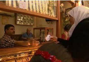 Война в Сирии - Война, взгляд из рынка в Дамаске - видео