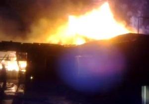 новости Киева - пожар - В Киеве горел склад строительного магазина