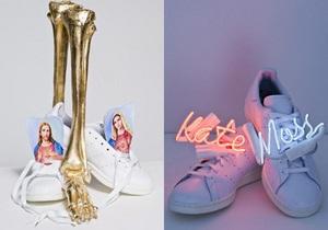 Иисус, кровь и неоновая Кейт Мосс. Звезды создали кроссовки для Adidas