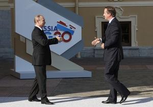 Путин и Кэмерон обсудили сирийскую проблему