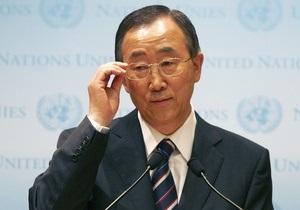 Пан Ги Мун заявил о невозможности решить конфликт в Сирии военным путем