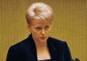 Президент Литвы нашла еще один аргумент в пользу подписания соглашения с Украиной