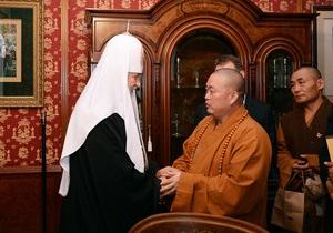 Патриарх Кирилл советует учиться силе духа у шаолиньских монахов