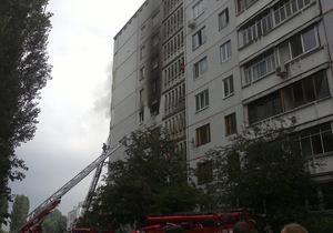 В Харькове на Салтовке в девятиэтажном доме прогремел взрыв, после чего начался пожар