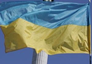В центре Берегово злоумышленники подожгли украинский флаг