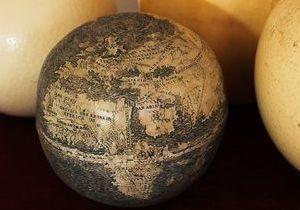 Страусине яйце визнали найстарішим глобусом з Америкою - історія глобуса