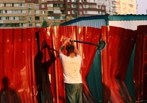 Штурм будмайданчика на Троєщині: фото та відео читачів Корреспондент.net - Троєщина - незаконне будівництво - забудова