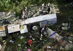 В Італії ховають жертв аварії автобуса