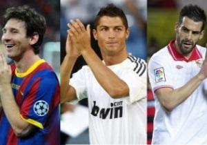 Месси, Роналду и Негредо поспорят за звание лучшего форварда Испании