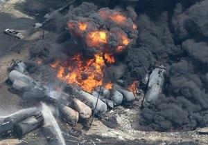 Канада - вибух - потяг