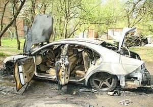 Новини Донецької області - Єнакієве - У Єнакієвому знайдений згорілий Mercedes з трупом у багажнику