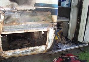 Свобода - підпал - У Тернопільській області підпалили автобус депутата від Свободи