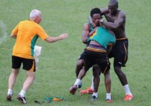 Футболисты сборной Кот-д Ивуара подрались на тренировке