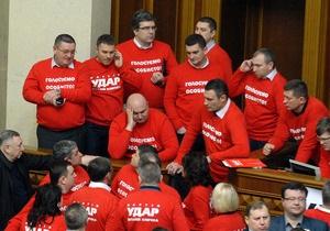 УДАР - депутати - вихід із партії