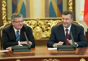 Янукович - Коморовський - Україна-Польща - Янукович прийняв запрошення Коморовського відвідати Польщу