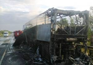 Запорізька область - автобус - пожежа