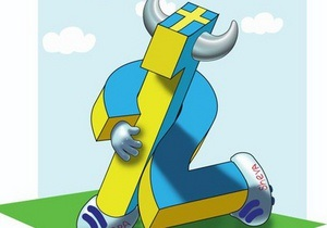 новини Києва - Євро-2012 - У Києві на Трухановому острові поставили пам ятник шведським уболівальникам