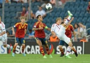 Молодежное Евро-2013: Россия проигрывает матч Испании