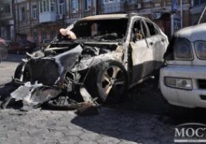 Машину игрока Днепра подожгли двое неизвестных