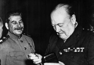 Сталін і Черчилль знайшли спільну мову лише за чаркою - документ