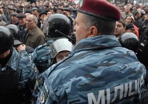 Міліція - акція протесту - 9 травня - Тернопіль
